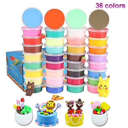 Knete Set in 36 Fraben, ESANDA Springknete Set mit Knetwerkzeug Geschenk für Kinder, Kinderspielzeug Kinderknete ,Schönes Mitgebsel zum Geburtstag
