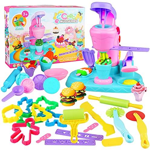 Yojoloin Knete Zubehör Knetwerkzeug, 30 Stück Knetwerkzeug und Cutter Sets für Kinder, Plastilin Set, DIY Clay Mould Tool Kreatives Geschenk für Jungen Mädchen