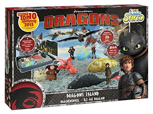 Craze 54292 - Magic Sand Dragons Island Box., ca. 800g in 5 verschiedenen Farben