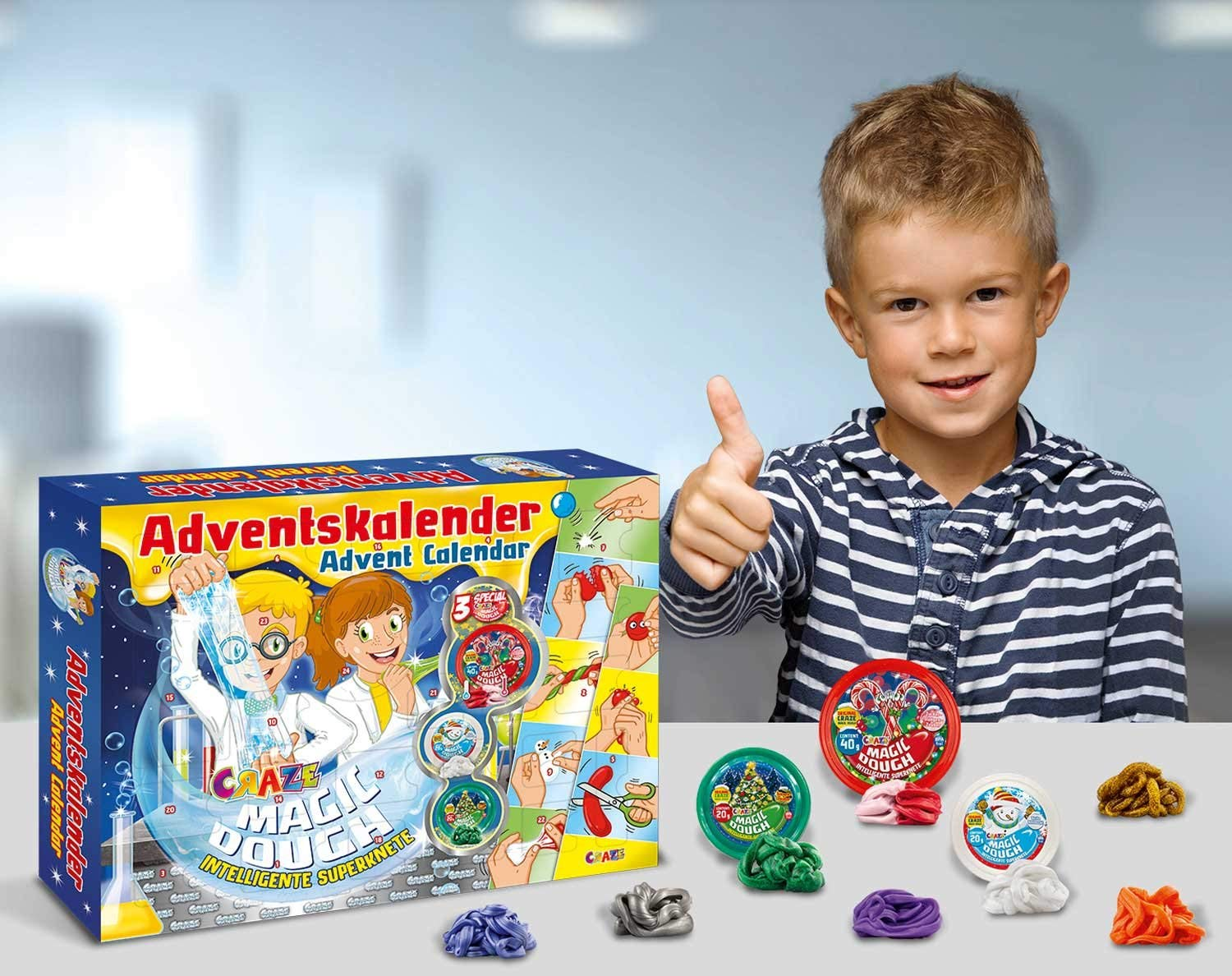 Adventskalender Intelligente Knete