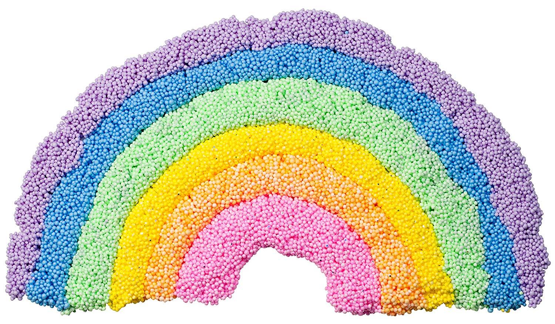 Regenbogen aus Perlenknete / Kugelknete